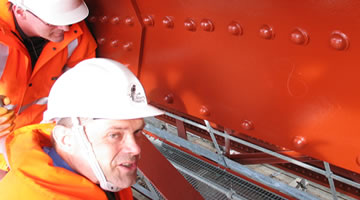Paint inspection of the Forth Rail Bridge